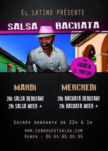 "cours salsa bachata au ""el latino"""